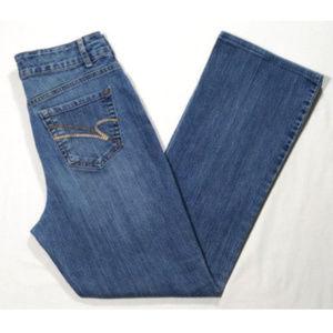 NINE WEST Women Bootcut Jeans High Rise 1858E1